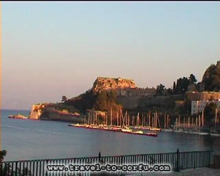 CORFU MARINA - A view of the marina of Corfu.