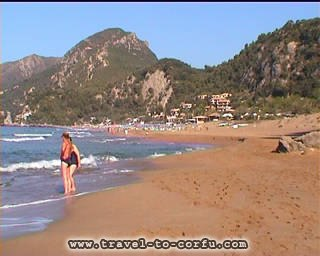 GLYFADA BEACH - The beach of Glyfada is one from the more beautiful in Corfu. It is found in distance of 16 km at the west side of the city.