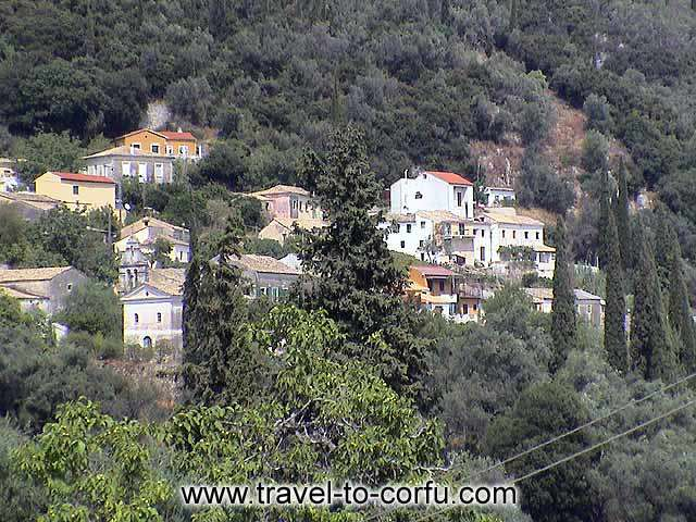 CORFU - The traditional architecture and the dense vegetation characterize the inland villages of Kerkyra.