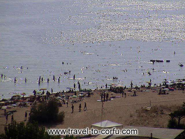 GLYFADA BEACH - Glyfada is a polular beach that is found in distance 16 km away from the city of Corfu.