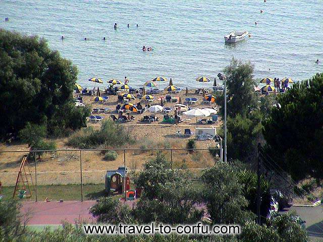 GLYFADA BEACH - The beach with the shoal waters and the golden sand, has been awarded with the Blue flag.
