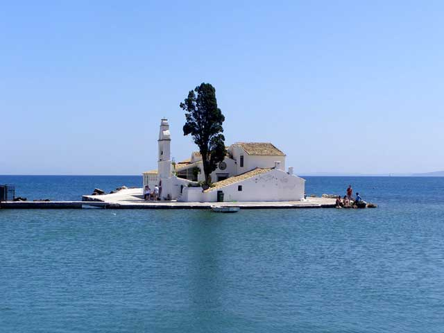 A measure of heaven - It is the small 17th century Panaghia Vlachernes monastery near the Kanoni promontory in Kerkyra.