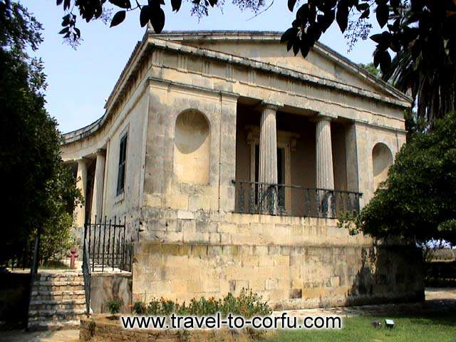 For 49 years (1864 - 1913) it was the royal summer house. CORFU PHOTO GALLERY - ANAKTORA - SAINT MICHAEL AND GEORGE PALACE
