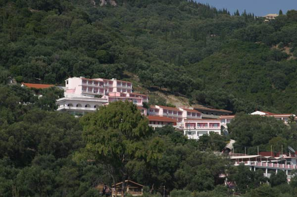 THE PINK PALACE IN  AGIOS GORDIOS - SINARADES